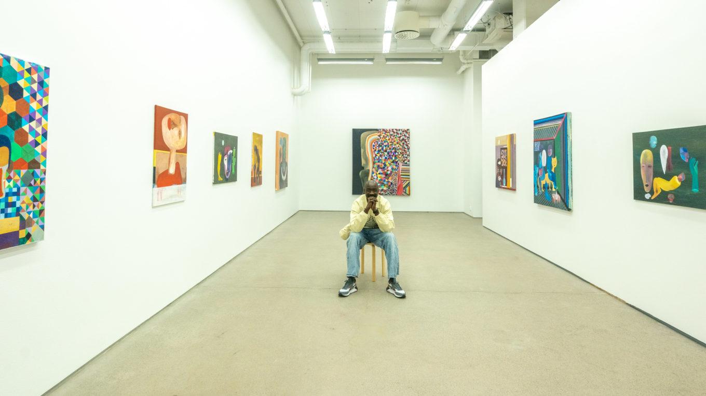 Painter Khalid Shatta at Oslo Afro Arts Festival 2021. Photo: Andre Percey Katombe
